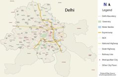 Map of Delhi (traced)