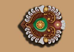 Vector illustration of a decorative lamp (diya)