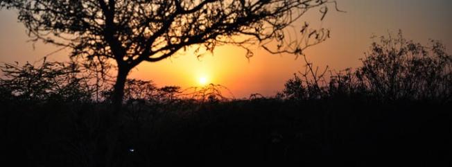 Sunset near Qutub Minar