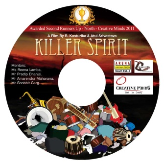 Killer Spirit DVD Sticker