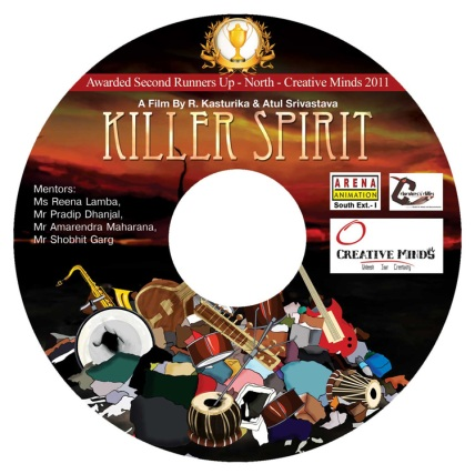 Killer Spirit DVD Sticker