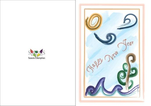 New year card vector illustration