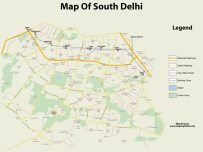 Map of South Delhi (traced)