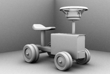 Toy Tractor Ambient Occlusion