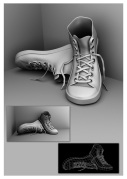 3D model of shoes - Ambient Occlusion