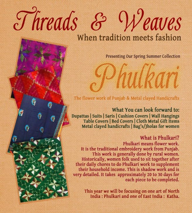 Threads 'n' Weaves mailer page 1