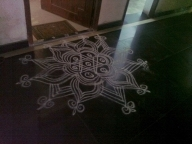 The neighbour's kolam (Chennai)