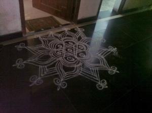 The neighbour's kolam (Chennai)