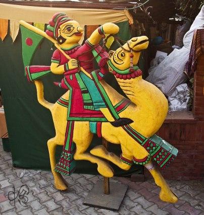 Camel rider decor