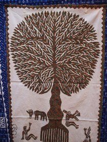 Tree on cloth
