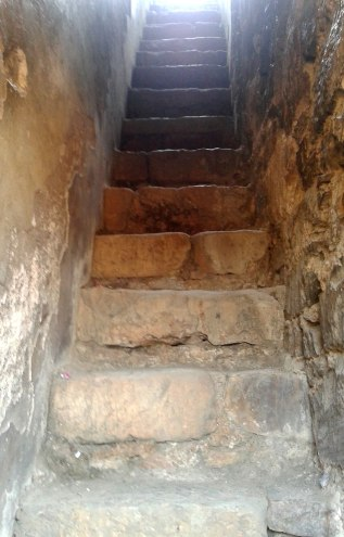 Stairs leading up to the roof