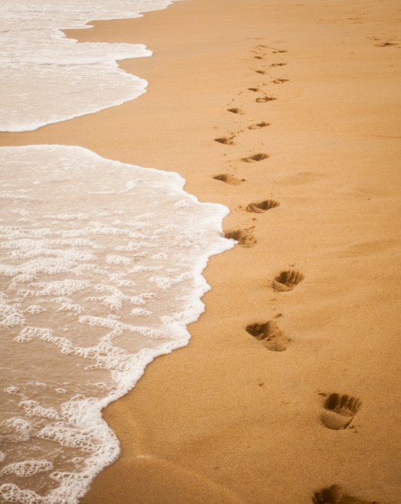 Footsteps in sand