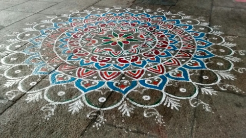 Kolam at Chidambaram Temple