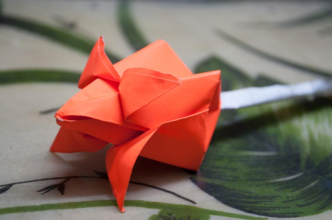 Orange origami