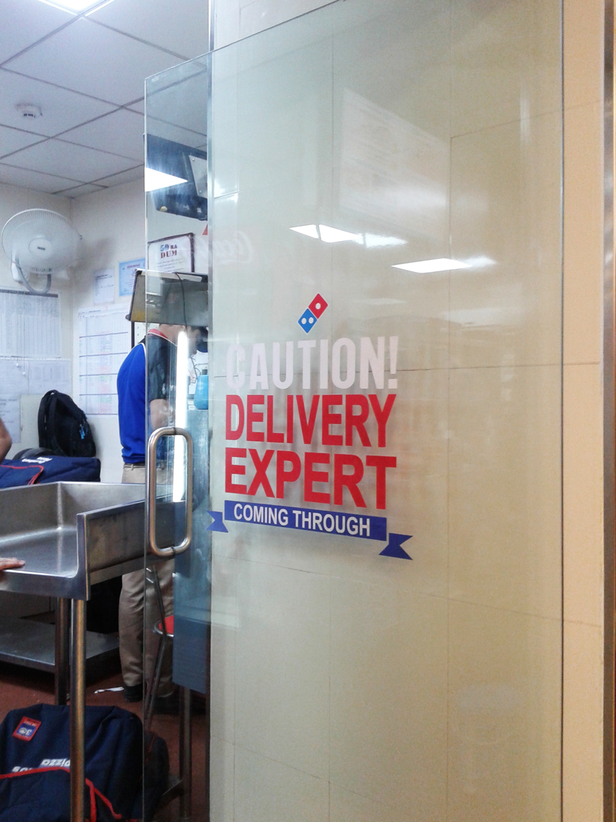 Door for delivery