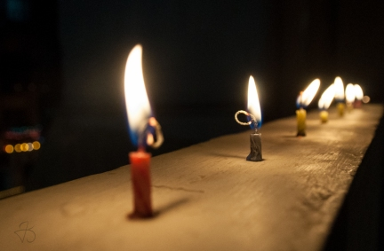 Candles burning out