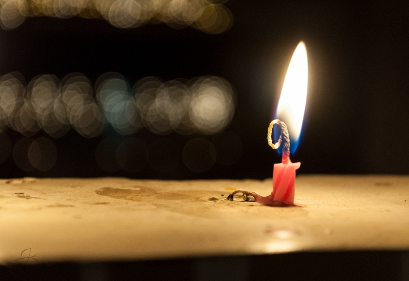 Lighting up Diwali with colourful candles